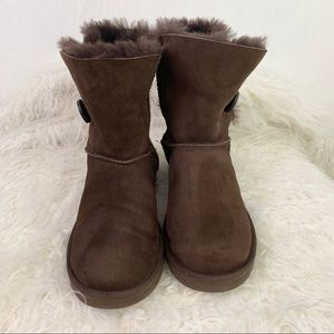Ugg Bailey Button Brown Boots
